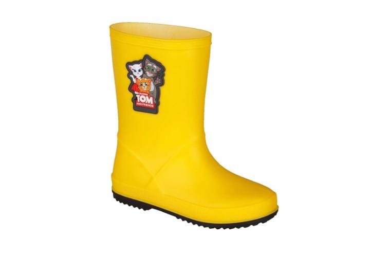 Гумові чоботи резинові 8505 COQUI Talking Tom & Friends Yellow/Antracit