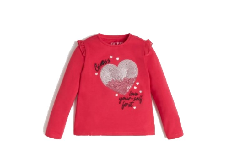 Лонгслив для девочек Guess Kids Jet Souvenir Pink