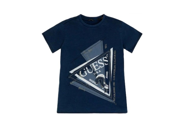 Футболка для хлопчиків Guess Kids Dark Blue Indigo Jer