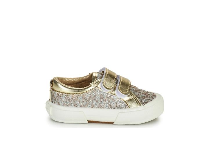 Кроссовки для девочки Michael Kors Ima Tinsel Ez-Gold Monogram Glitter