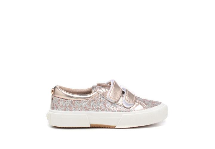 Кроссовки для девочки Michael Kors Ima Tinsel Ez-Pink Monogram Glitter