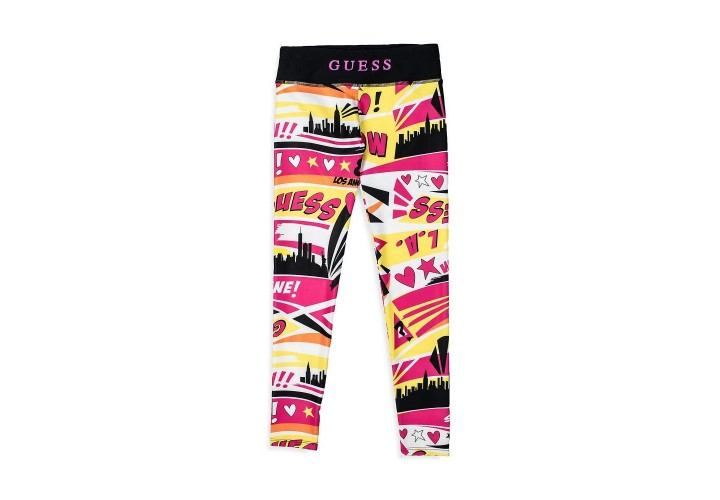 Штаны для девочек Guess Kids Popstar Yellow Multi