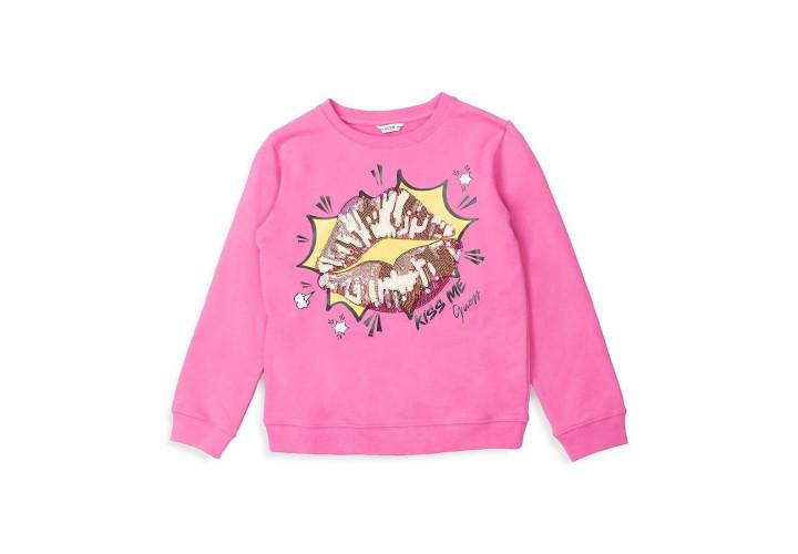 Свитшот для девочек Guess Kids Pop Pink