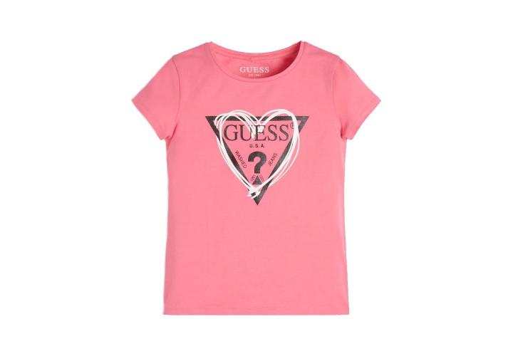 Футболка для дівчаток Guess Kids Pop Pink