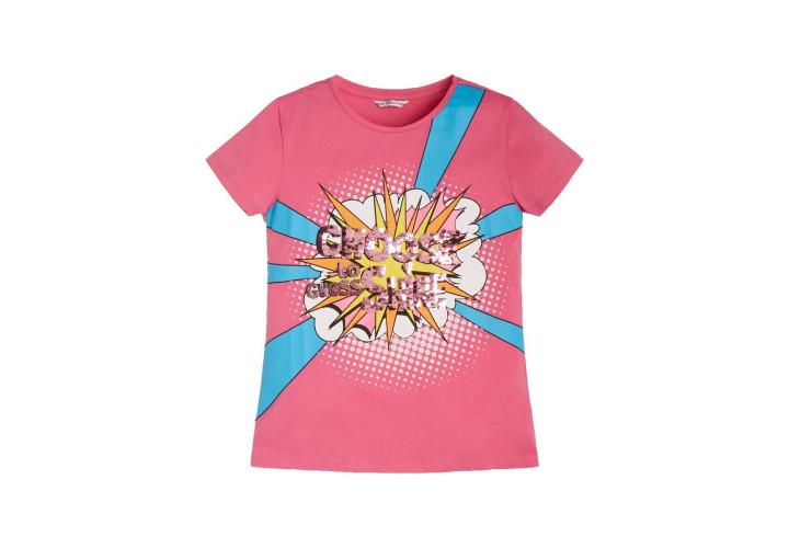 Футболка для девочек Guess Kids Pop Pink