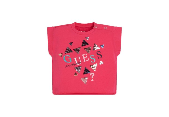 Футболка для дівчаток Guess Kids Jelous Pink