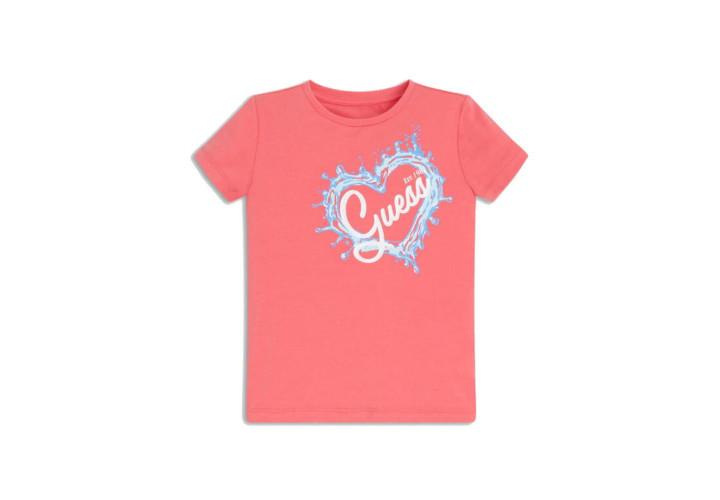Футболка для дівчаток Guess Kids Rouge Pink