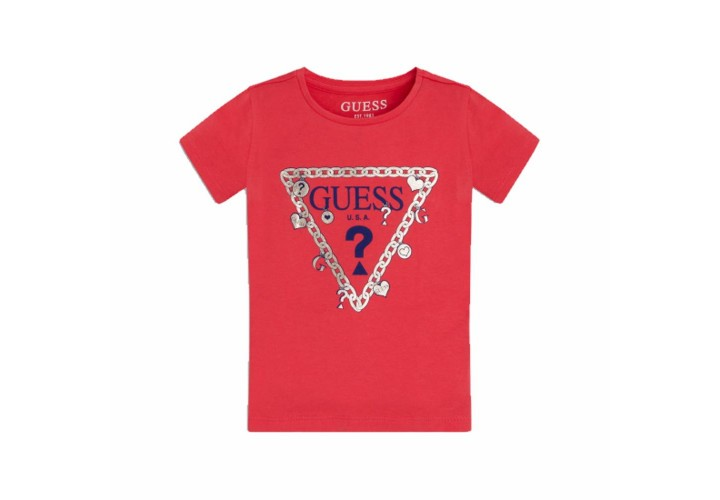 Футболка для девочек Guess Kids Punk Rocker Pink B41