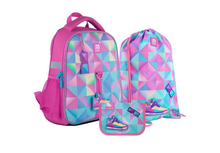 Набор рюкзак+пенал+сумка для обуви Kite 555 Cool girl